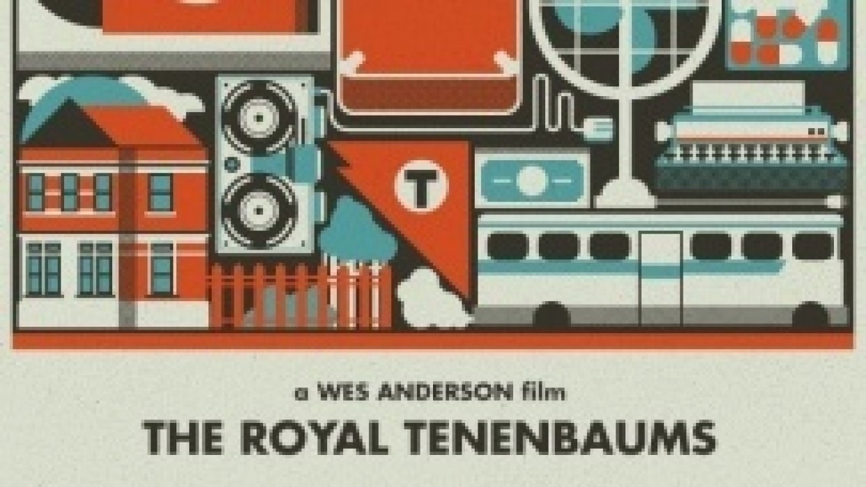 Royal Tenenbaums Movie Poster - student project