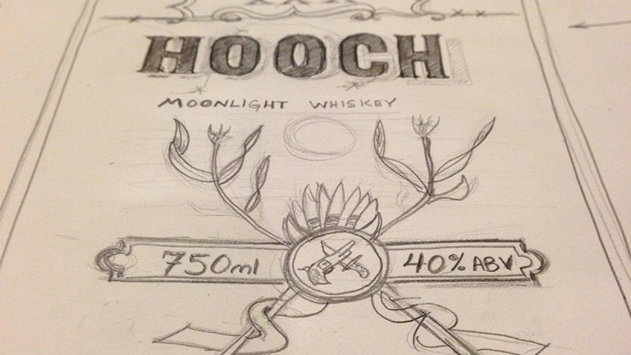 Hooch Moonlight Whiskey - student project