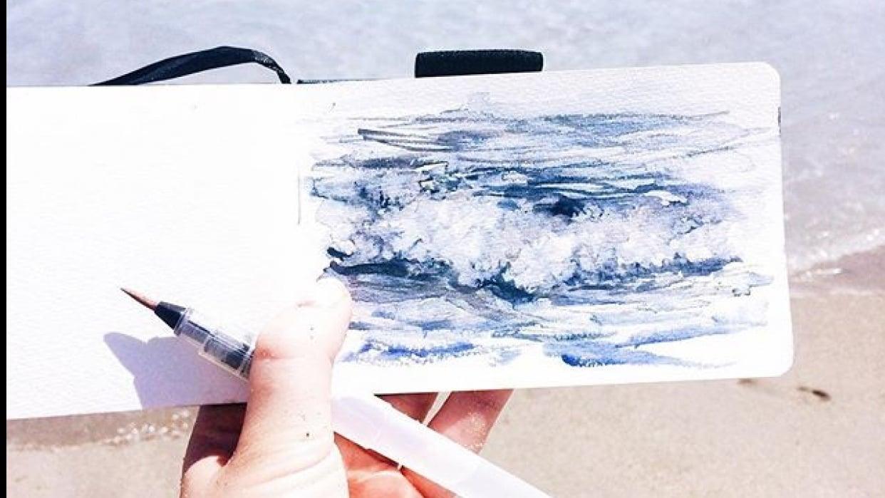 en plein air wave - student project