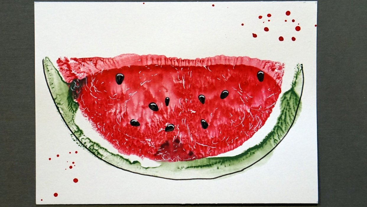 Water-color-water-melon - student project