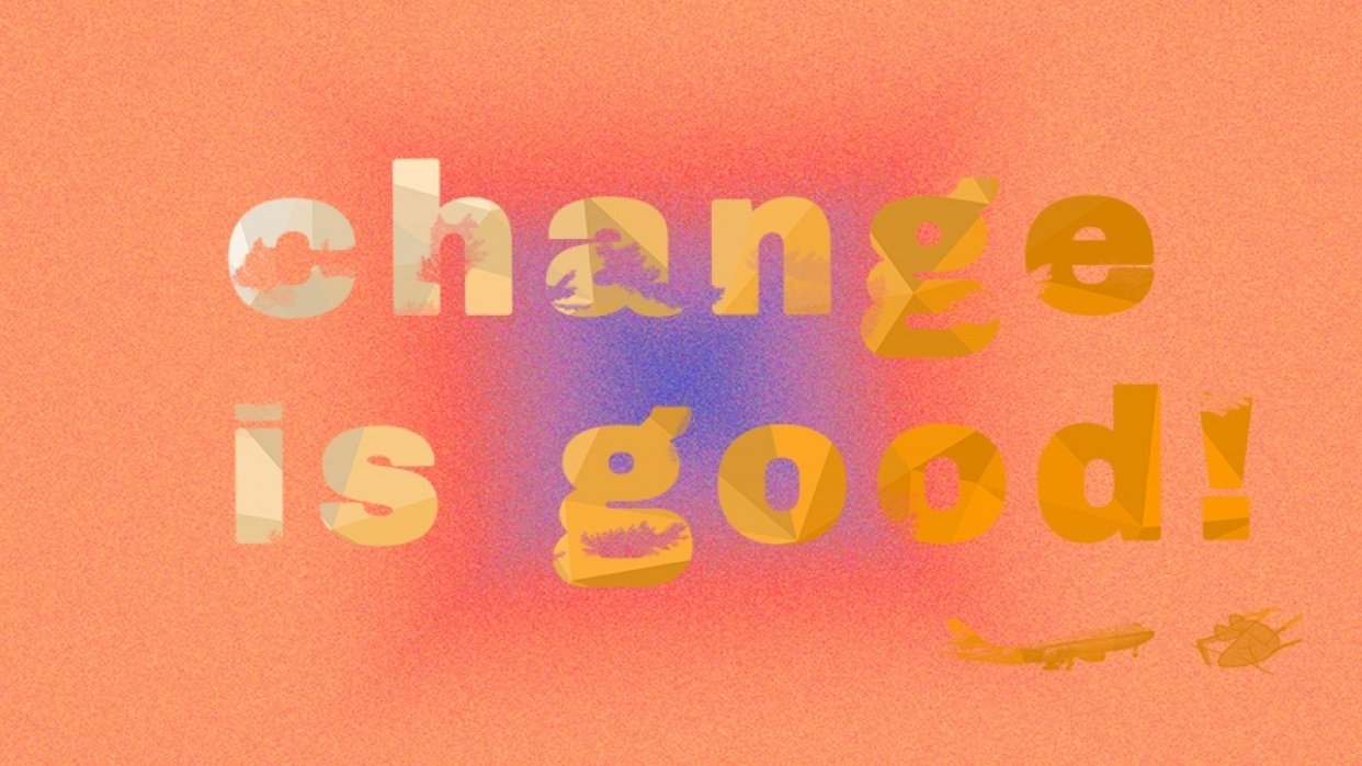 Grunge Text with Custom Brushes  - student project