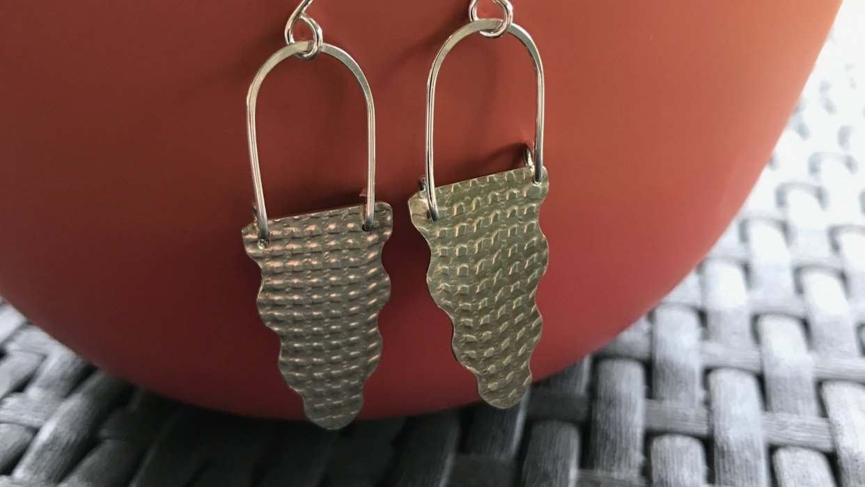Scalloped Drop Earrings - student project