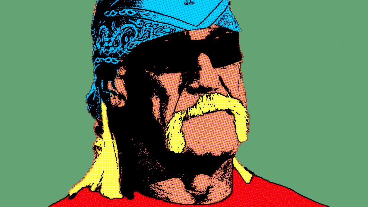 Hulk Hogan pop art - student project