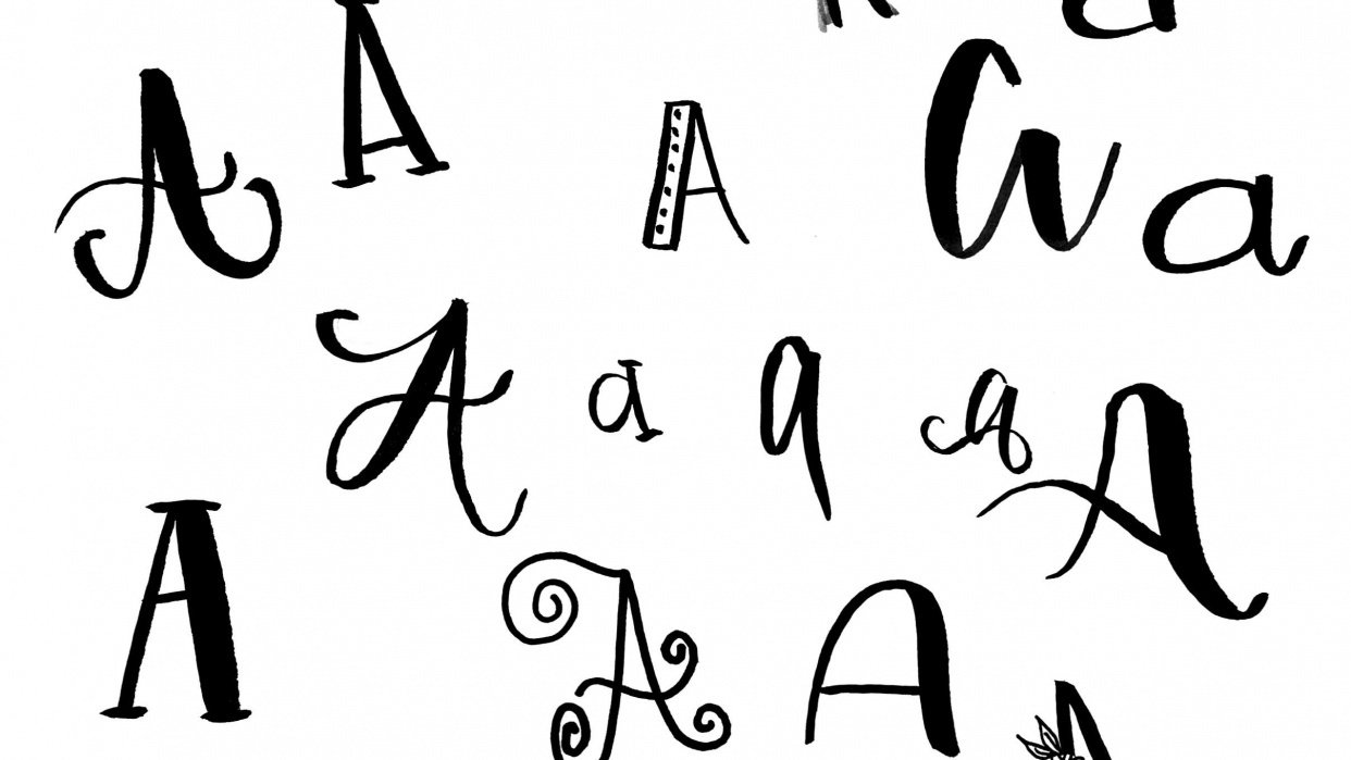 Sample Project for Discover Your Unique Lettering Style - student project