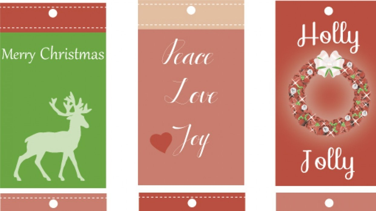 Christmas Tags - student project
