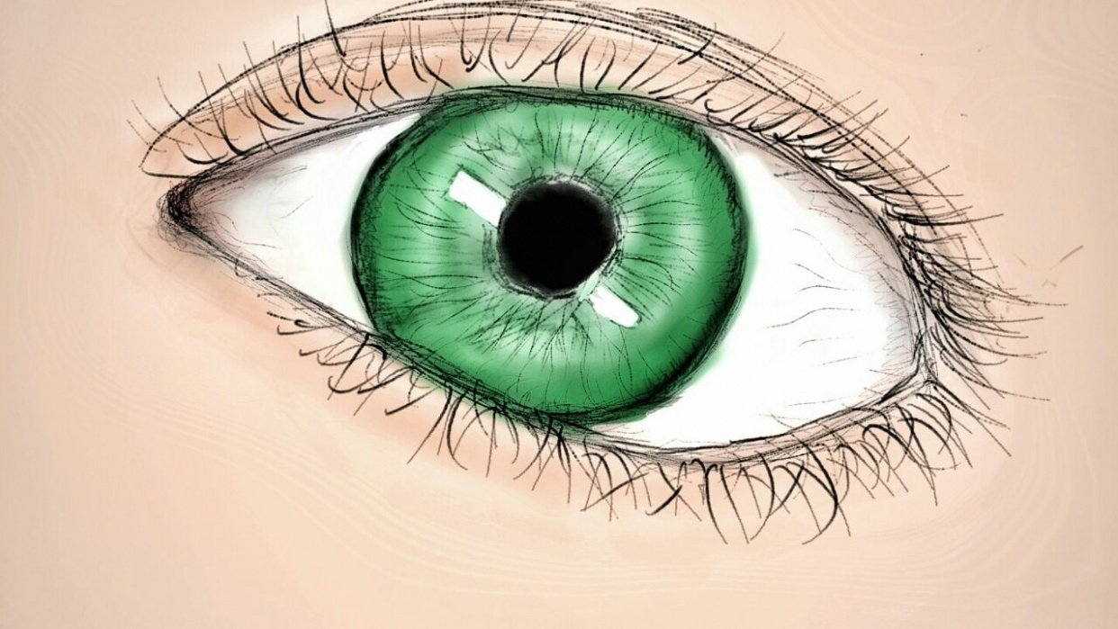 Trying to draw a somewhat realistic eye - student project