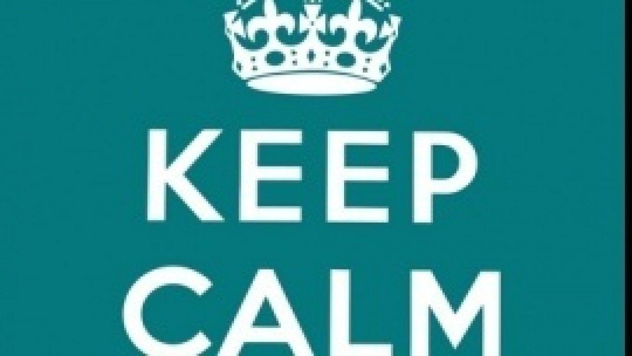 Keep Calm & Carry On - student project