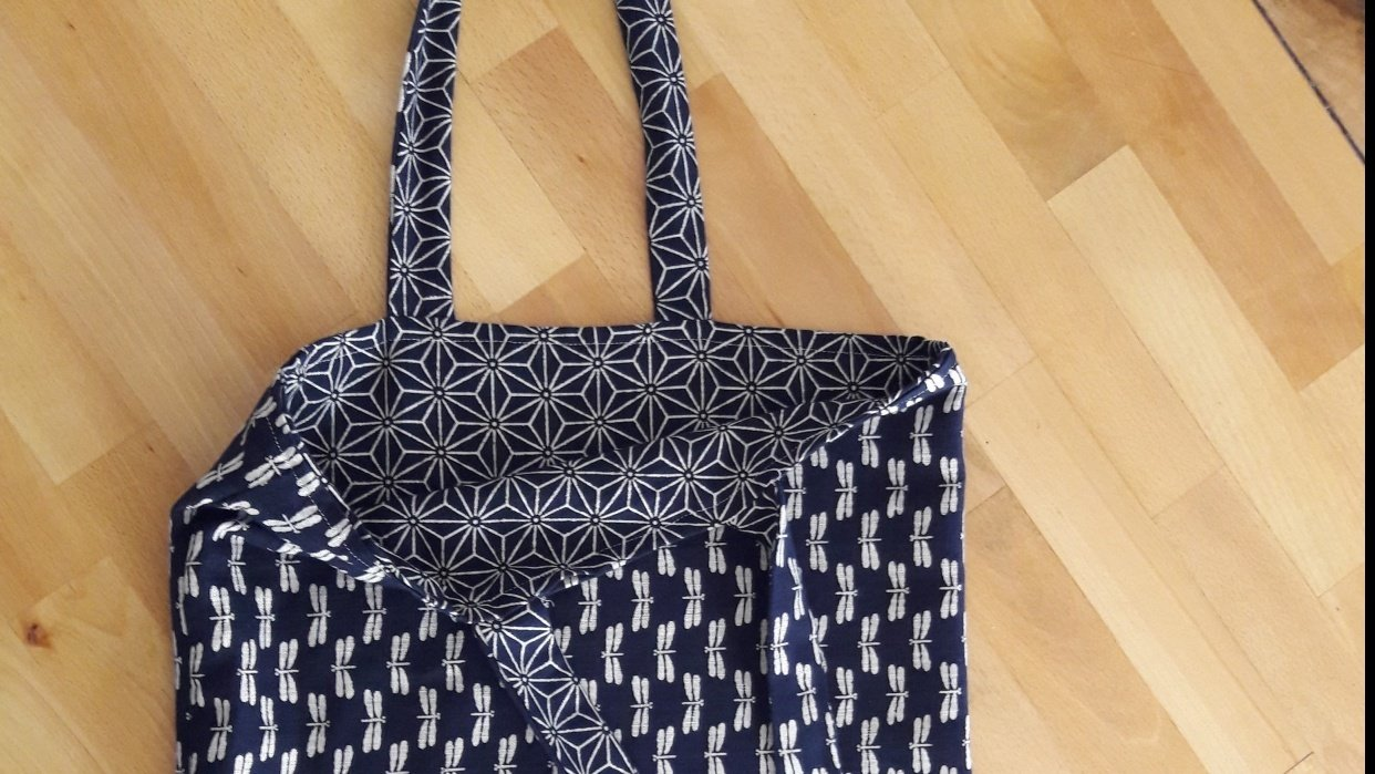 Tote Bag in Japanese Fabric - student project