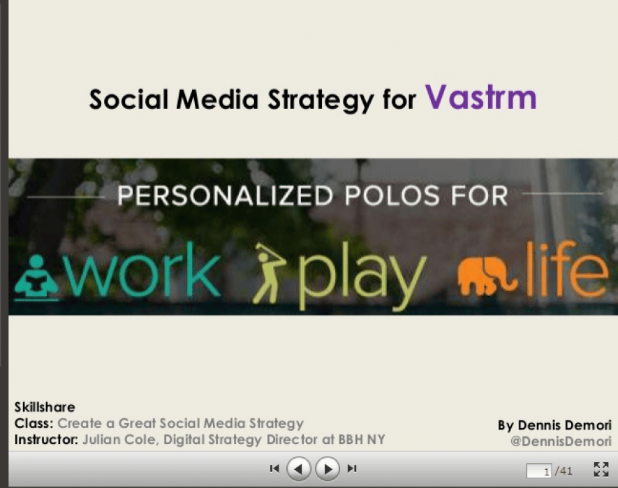 Skillshare Final Assignment: Vastrm Social Media Strategy - student project
