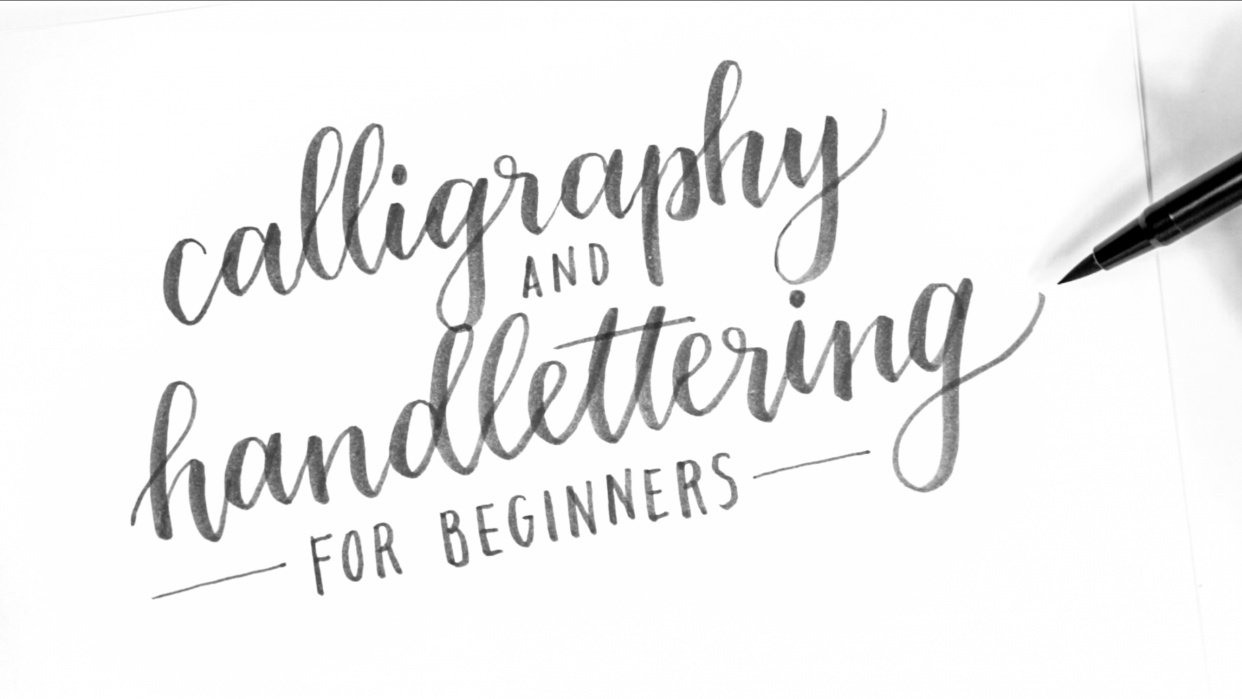 Calligraphy & Hand Lettering for Beginners - student project
