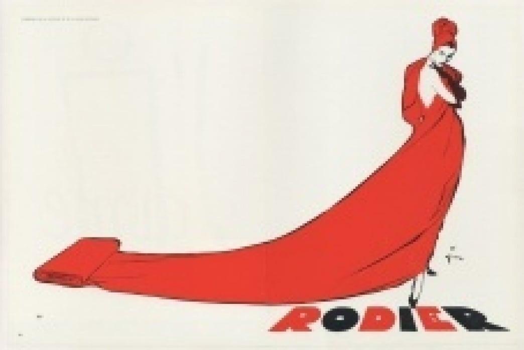 Vintage Rodier Fabrics Advert - student project
