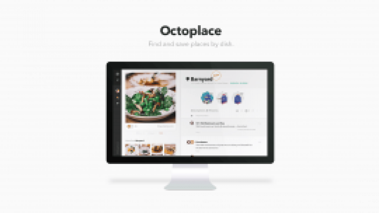 Octoplace.com - Find and save places by dish - student project