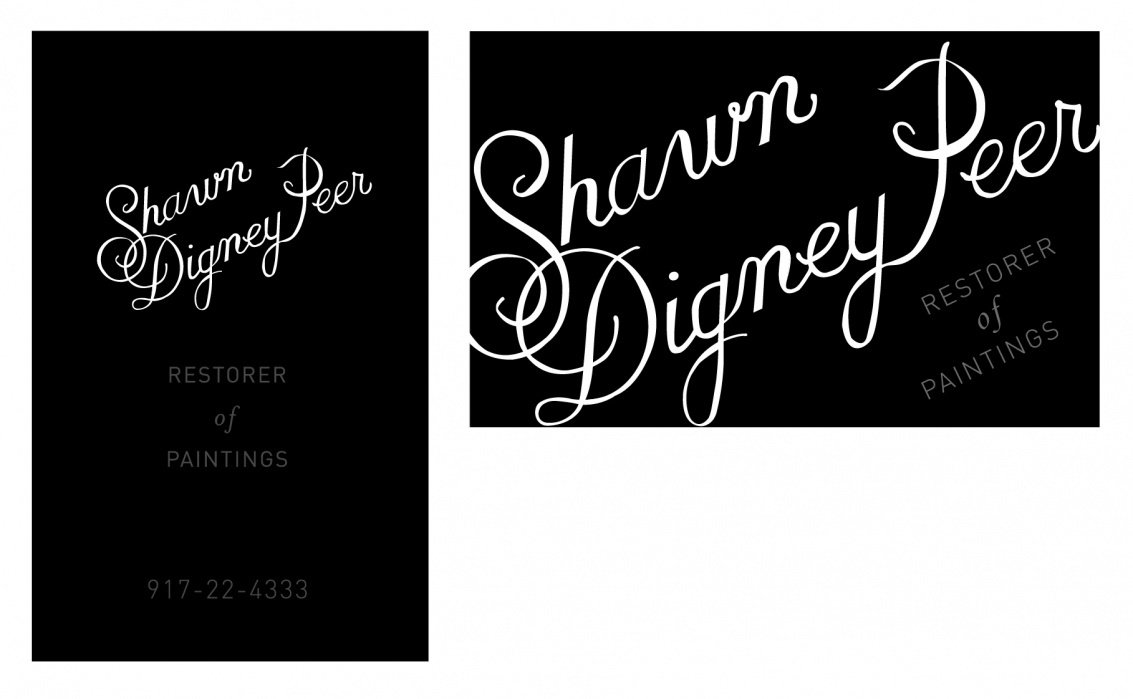 Business Card for a Paintings Restorer - student project