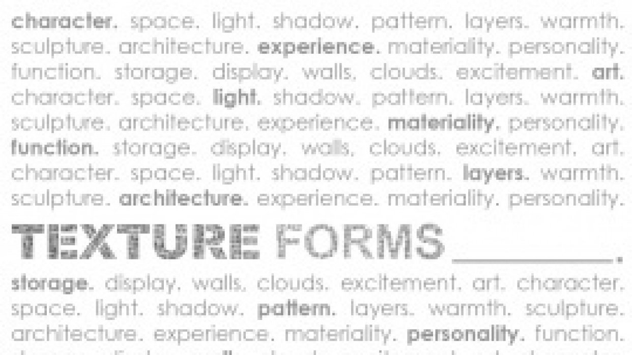 Texture Forms - student project