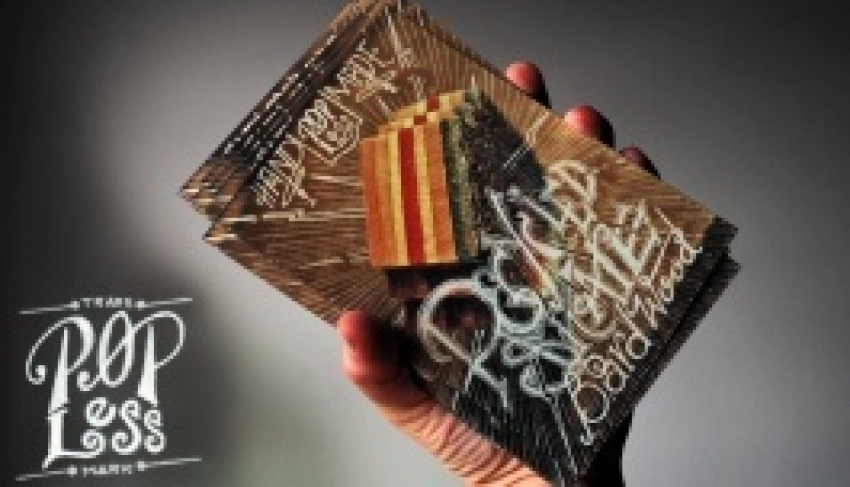 ☞ Popless ☜ Recycled Skateboard Wooden Rings - student project
