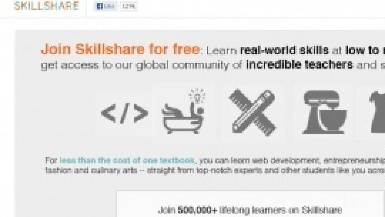 Skillshare Landing Page #1 - student project