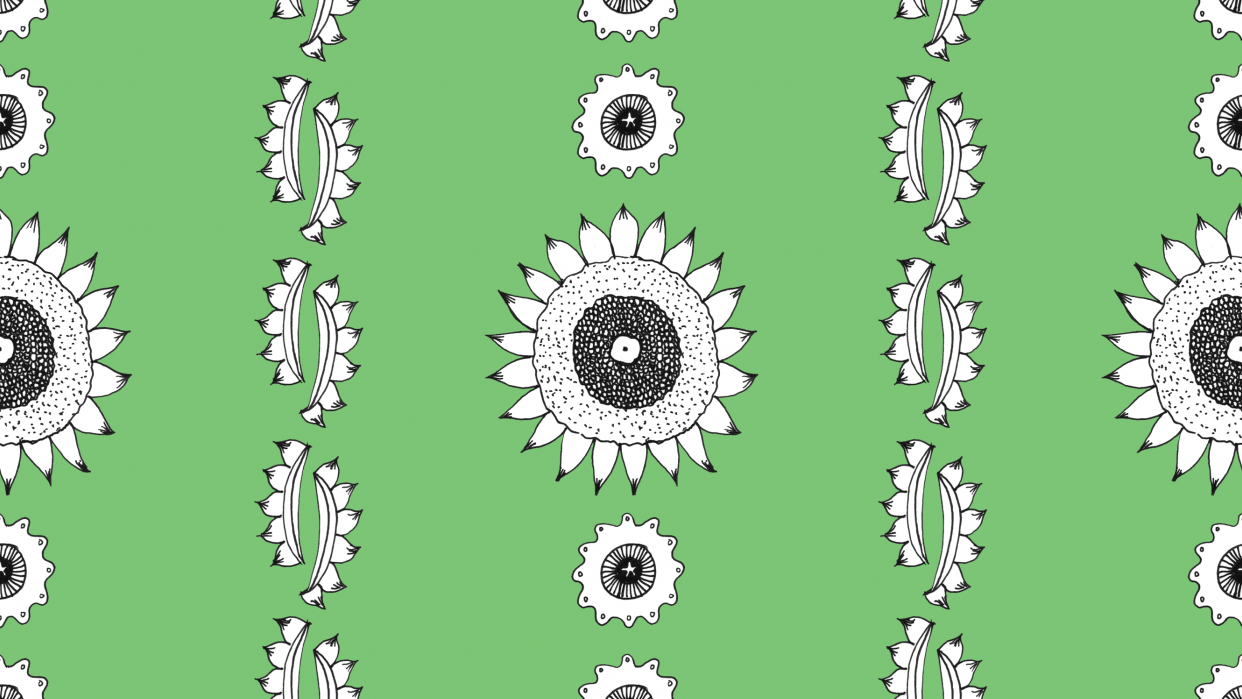 Sunflower Pattern Series - student project