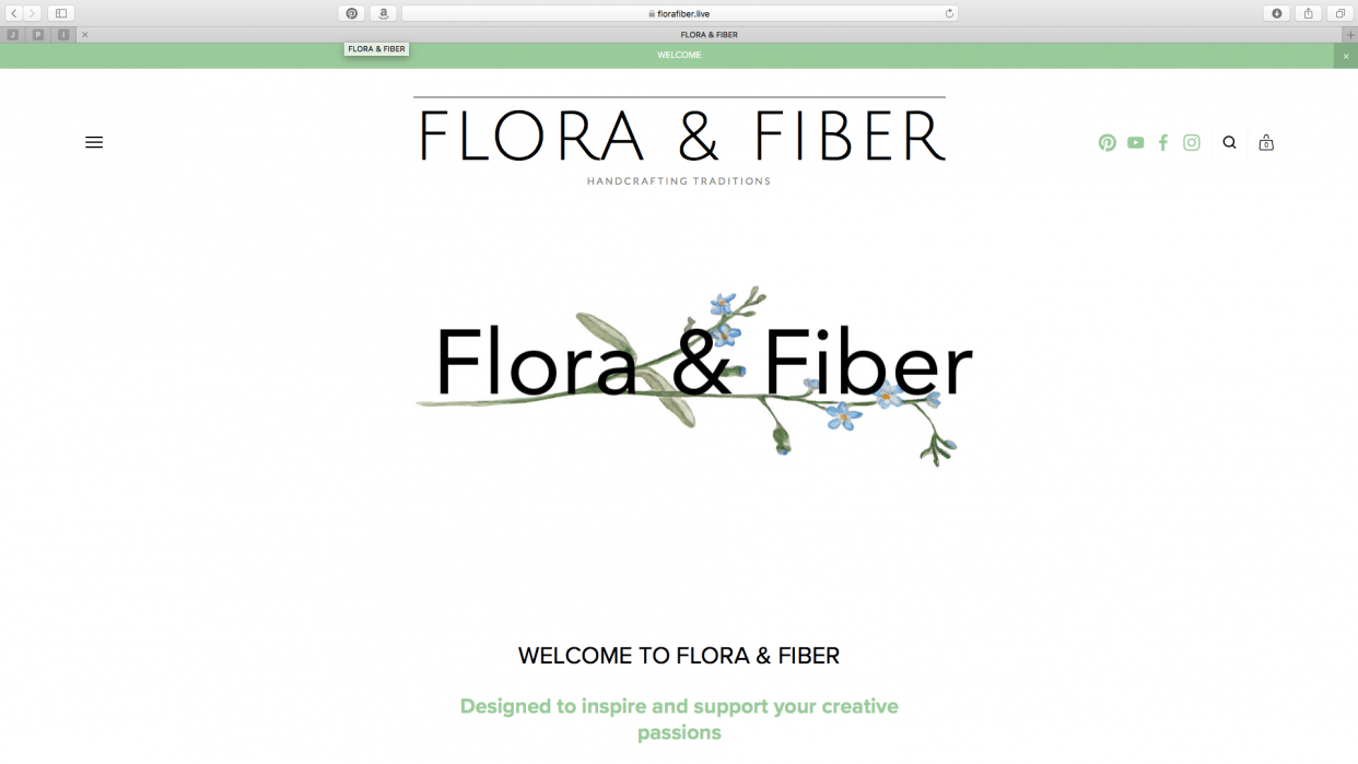 About Page - Flora & Fiber - student project