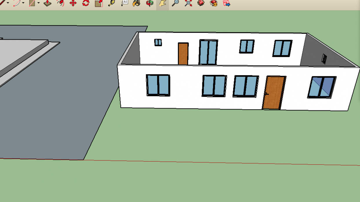 Walls with windows and doors - student project