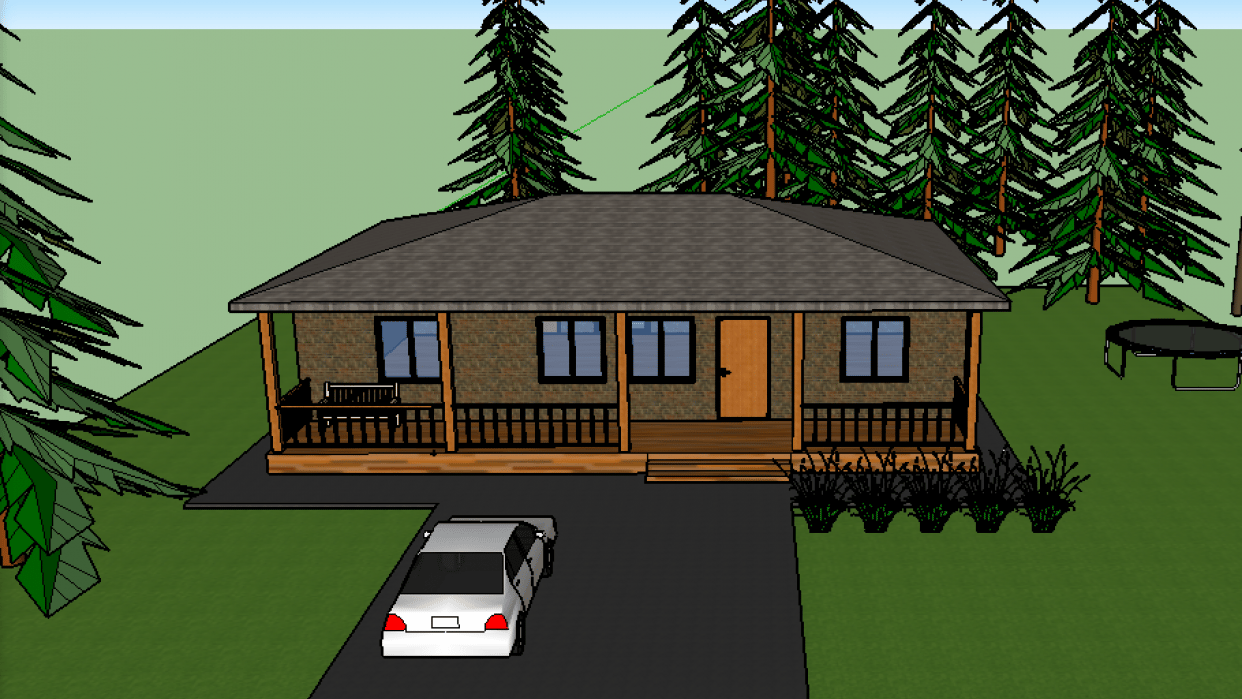 Finished house - student project