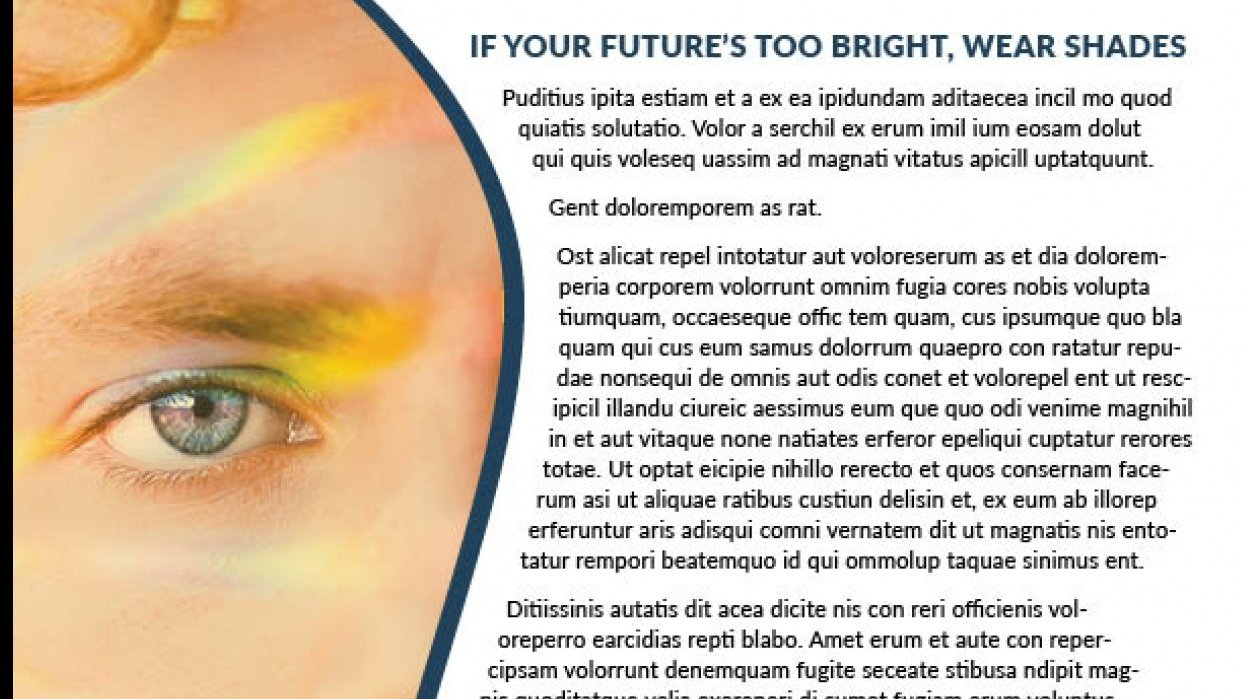 30 Days 30 InDesign Classes - Class 2 - Bright Future Newsletter - student project