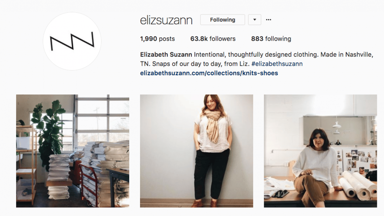 Elizabeth Suzann Instagram Inspiration - student project