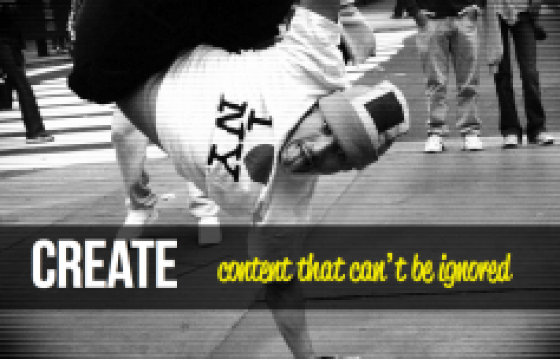 Creare content that can't be ignored - student project