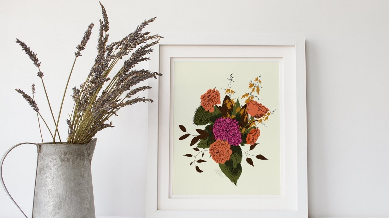 Dramatic Hydrangea and Ranunculus - student project