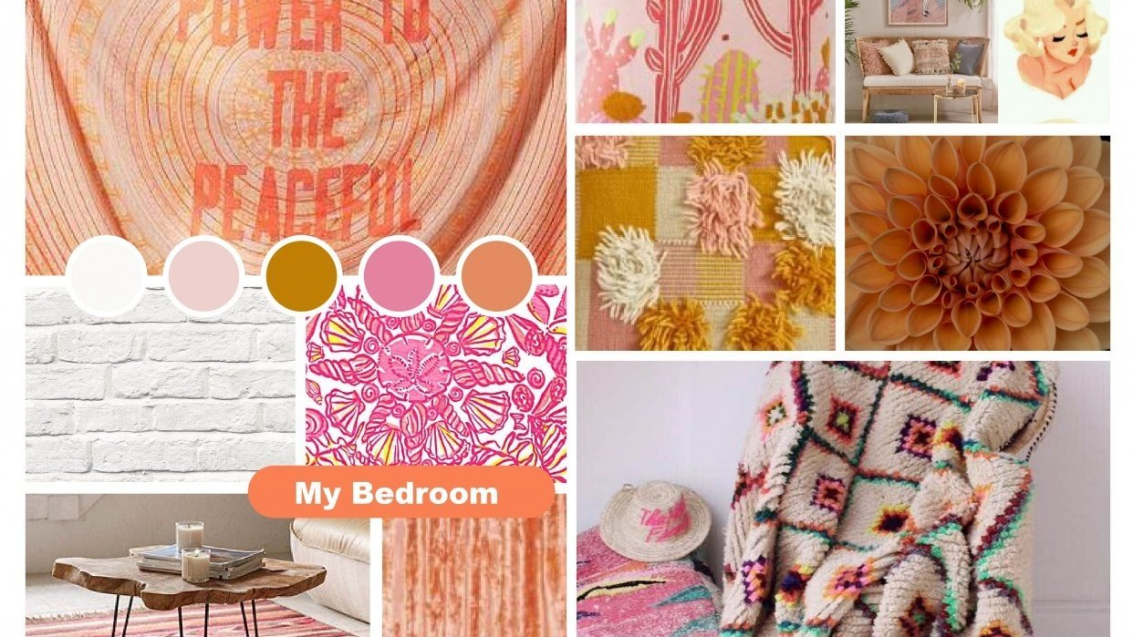 Bedroom Moodboard - student project