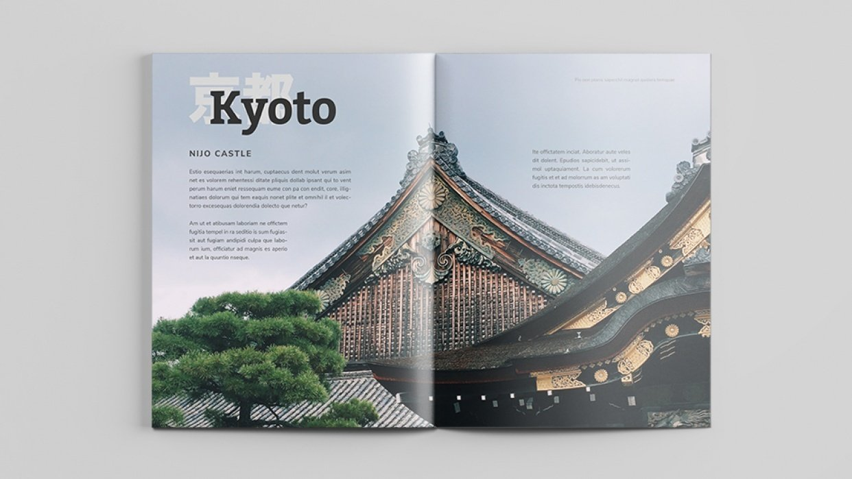 Mock Travel Mag: Kyoto - student project