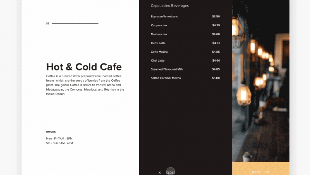CafetransitionFun - student project
