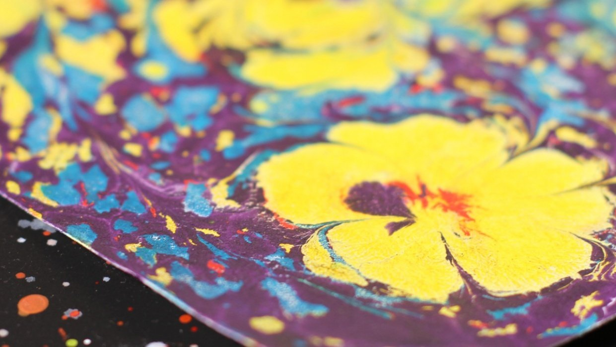 Paper Marbling Magic - student project
