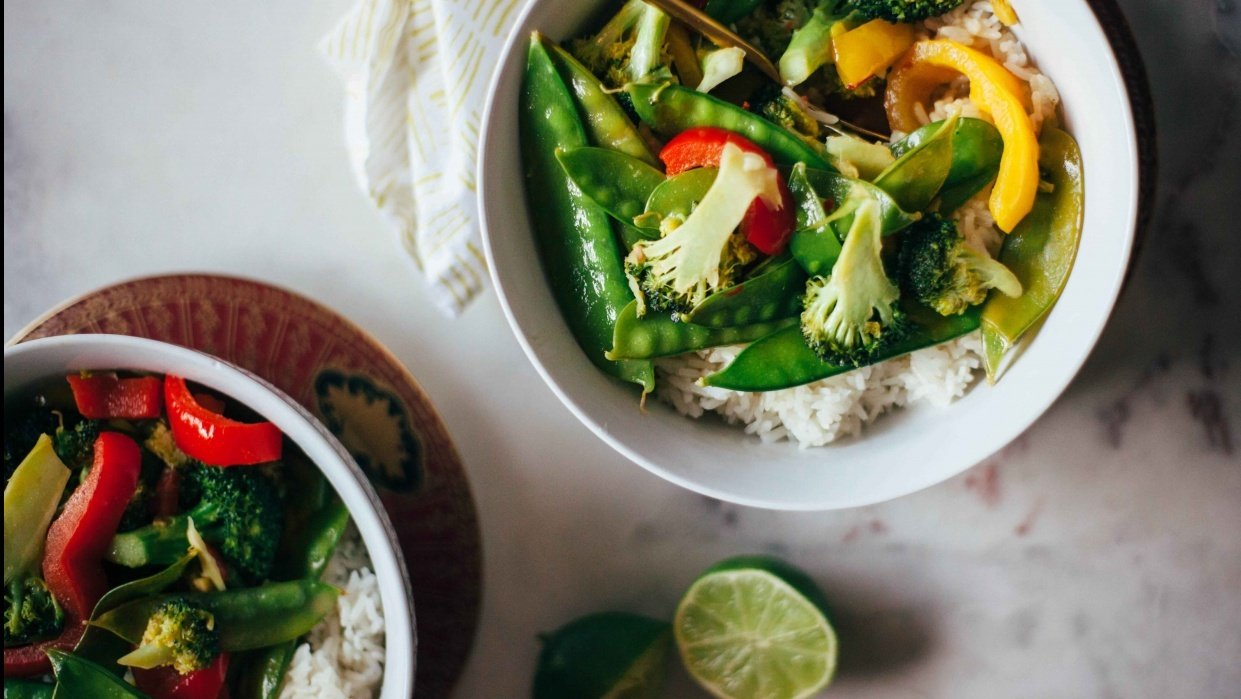 Easy Vegetarian Thai Green Curry - student project