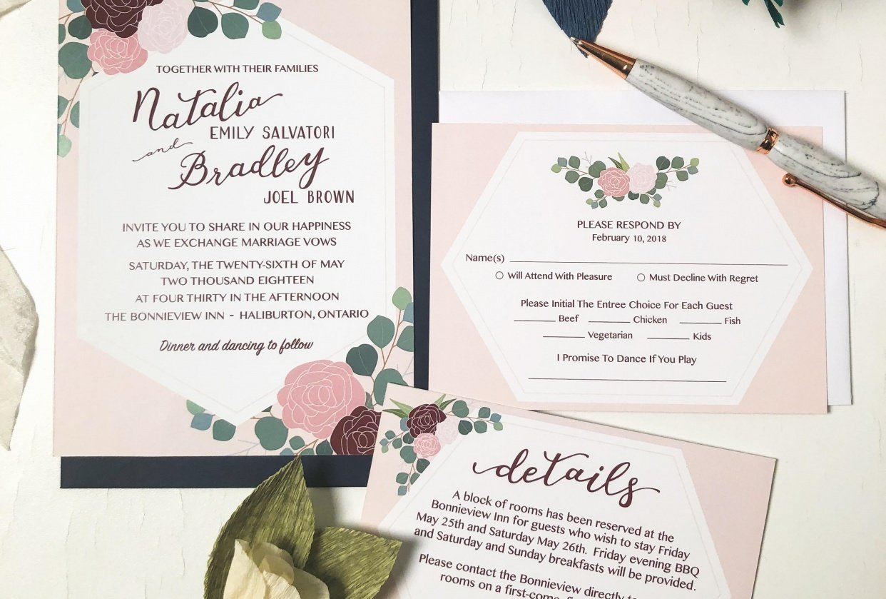 May Wedding Invites - student project