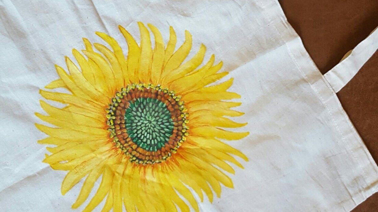 Sunflower bag - student project