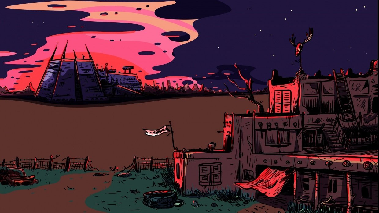The quiet desert at sunset - student project