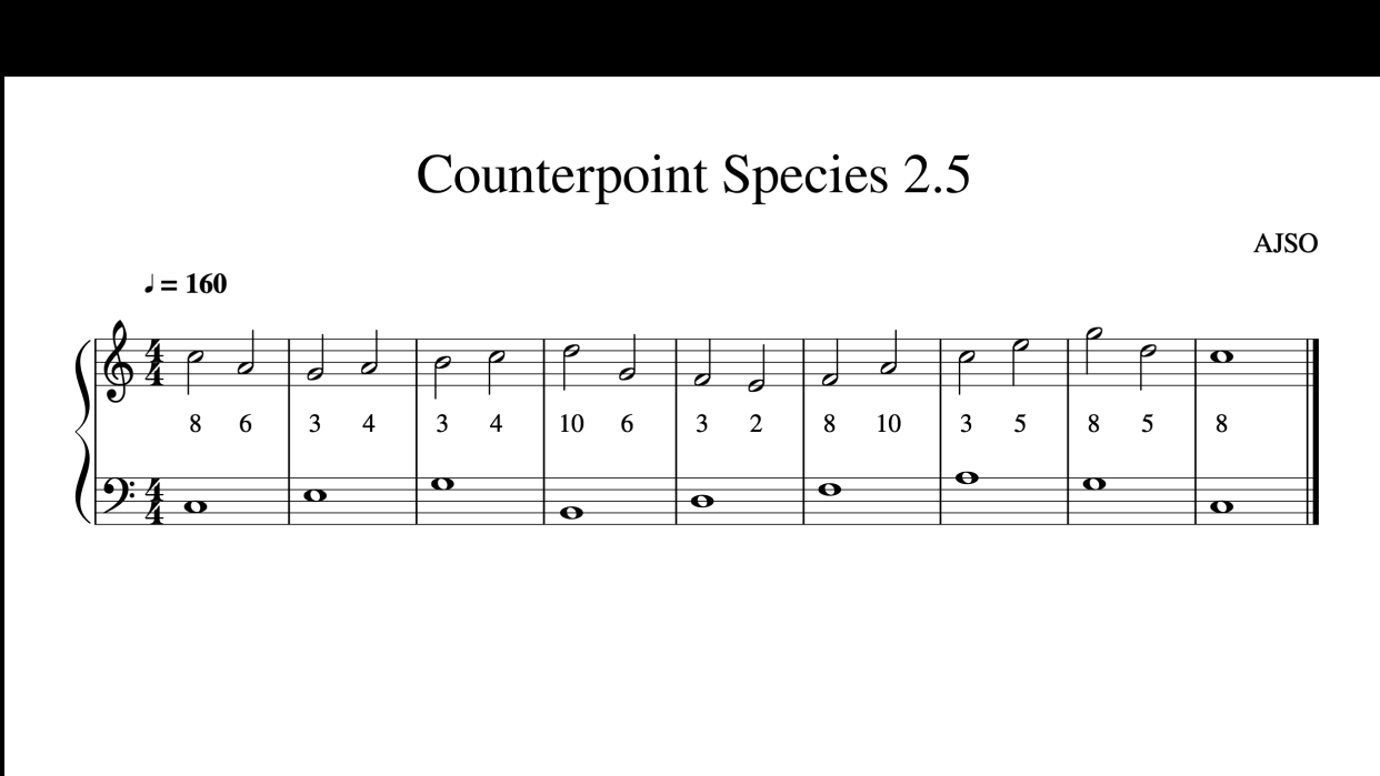 Counterpoint - student project