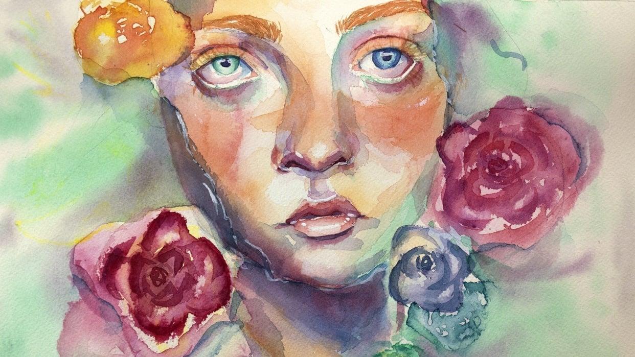 Watercolor Portraits - Teacher Project - student project