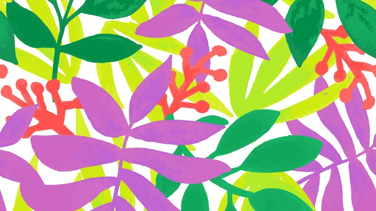 Tropical Pattern Tile - student project