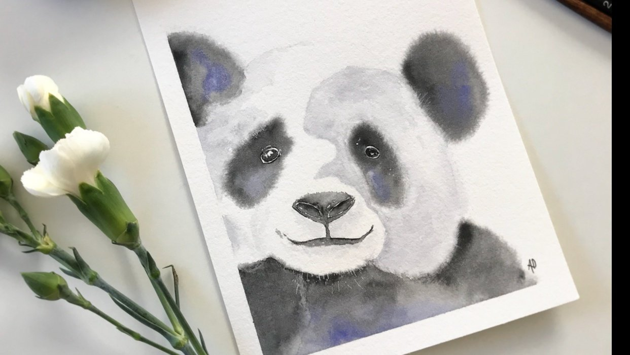 Fluffy watercolor animals - student project