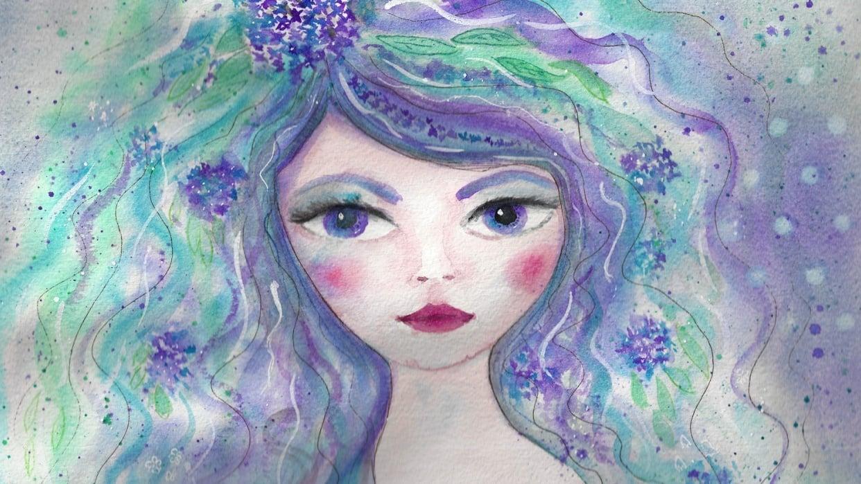 Hydrangea girl ~ - student project