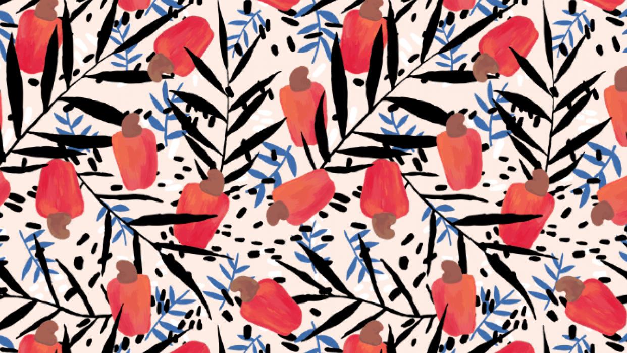Cashew fruit pattern - student project