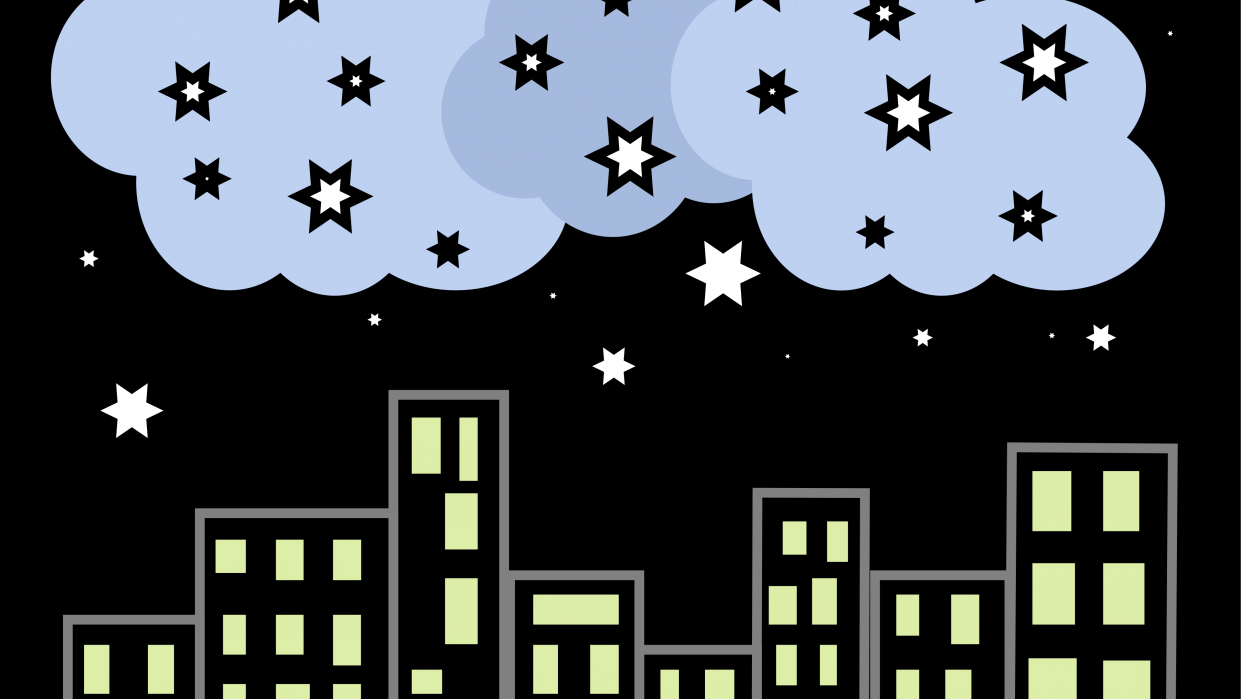 Starry starry night - student project