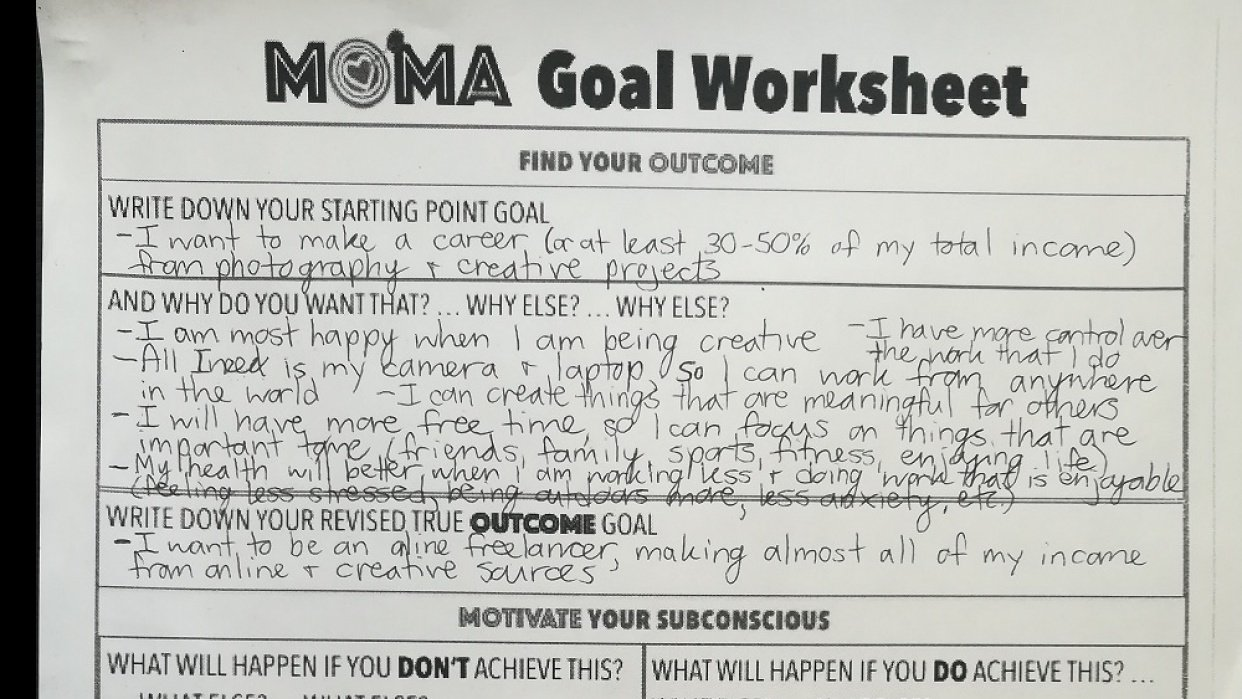 My First MOMA Goal: Become an Online Freelancer - student project