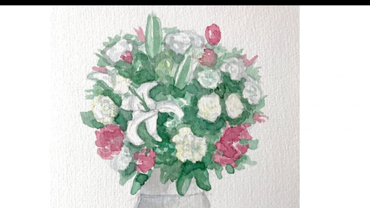 Painting White in Watercolor - student project