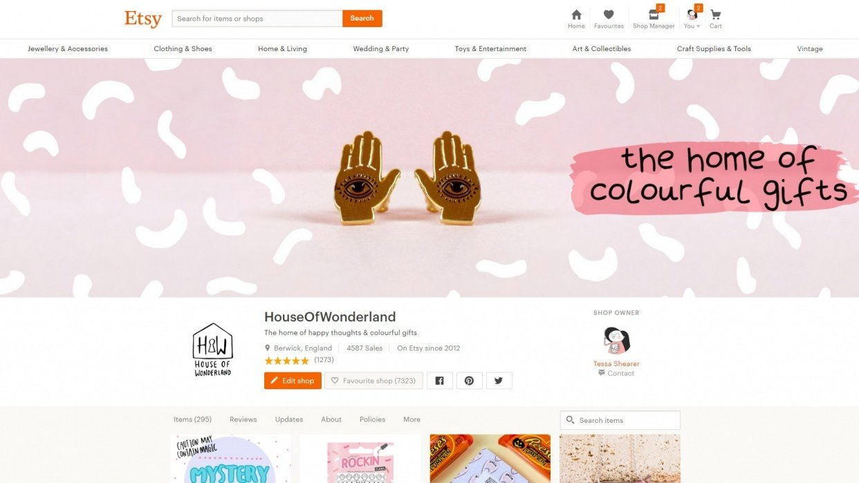 Etsy // House Of Wonderland - student project