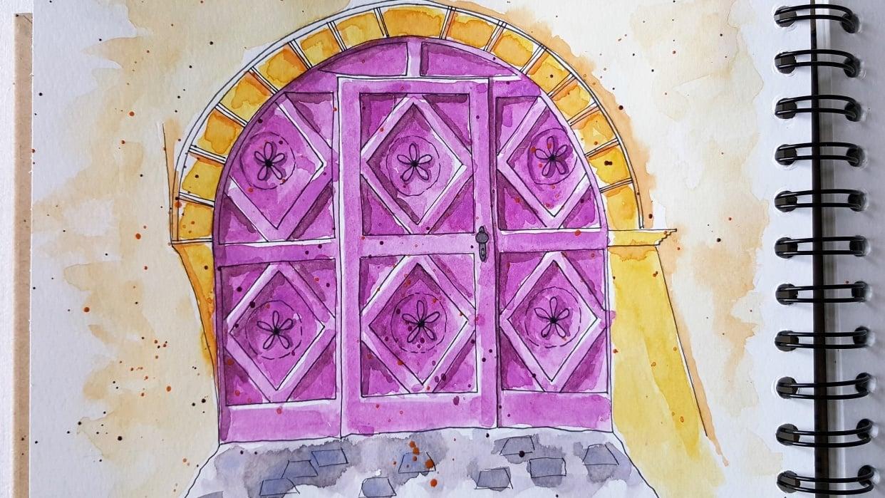 Schellenursli-Door Guarda, Switzerland - student project