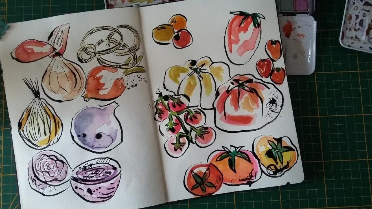 Sketchbook Practice : Create Freely with Ink and Watercolor - student project
