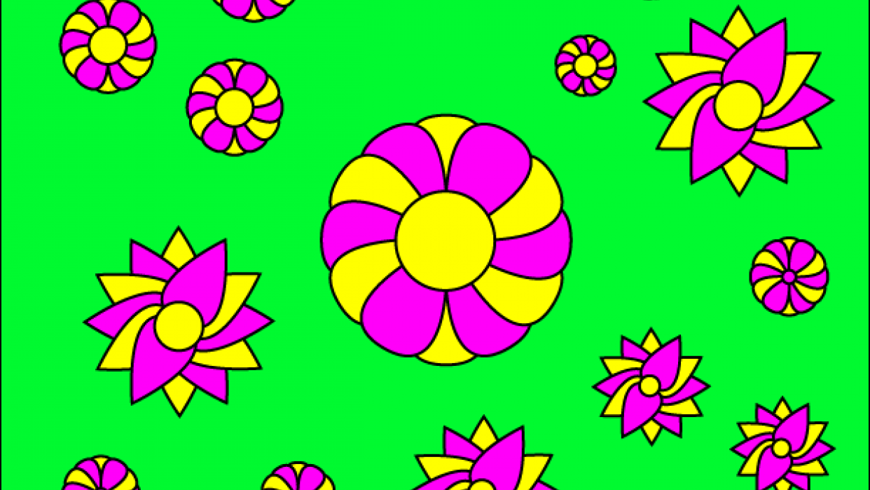 Floral Coloring Page - student project