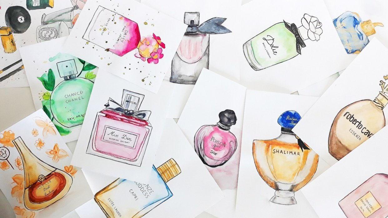 Perfumes featured in the class - student project